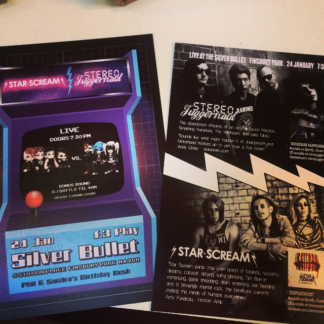 Flyers for Saturdays gig are out in full force thishellip